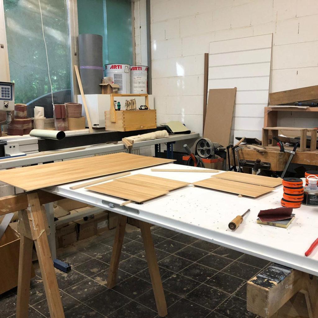 Werkstatt - Vorbereitung Schreibtisch